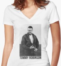 Tommy Robinson Women's Fitted V-Neck T-Shirt