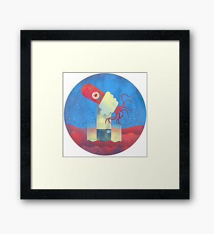 Octopus Wrangler Framed Print
