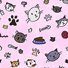 Kitty Pattern (Pink) by beefgnawpolis