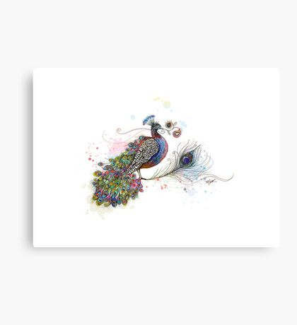 Royale Paisley Peacock Canvas Print