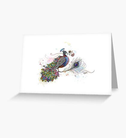 Royale Paisley Peacock Greeting Card