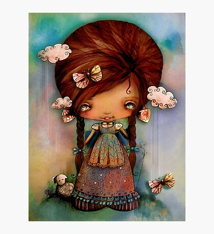 Little Shepherd Girl Photographic Print