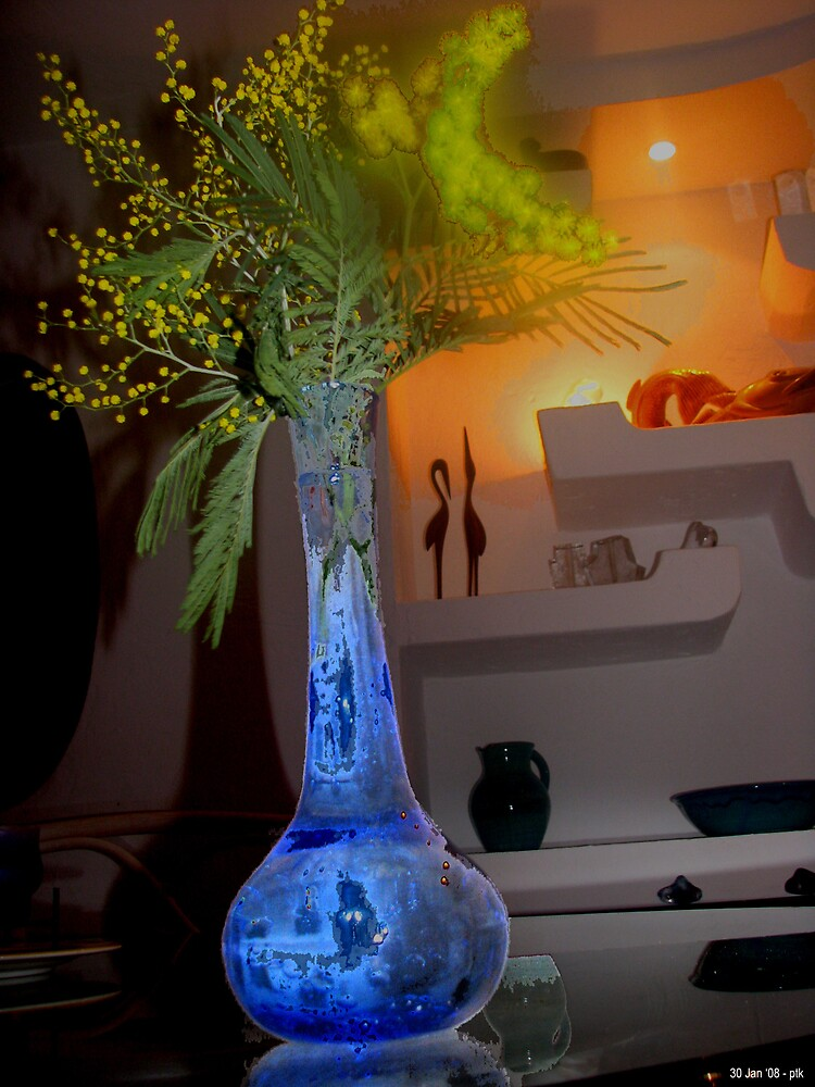 Blue Vase in Foreground by ptkap