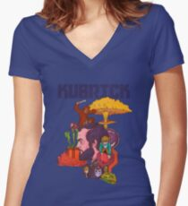 The Mind of Kubrick Women's Fitted V-Neck T-Shirt