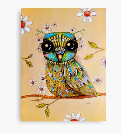 the peridot owl Canvas Print