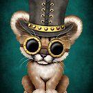 Steampunk Baby Cougar Cub von jeff bartels
