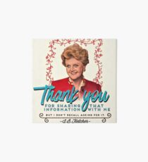 Jessica Fletcher Doesn't Need Your Input Art Board
