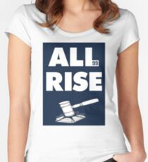 ALL RISE Aaron Judge NY Yankees  Women's Fitted Scoop T-Shirt