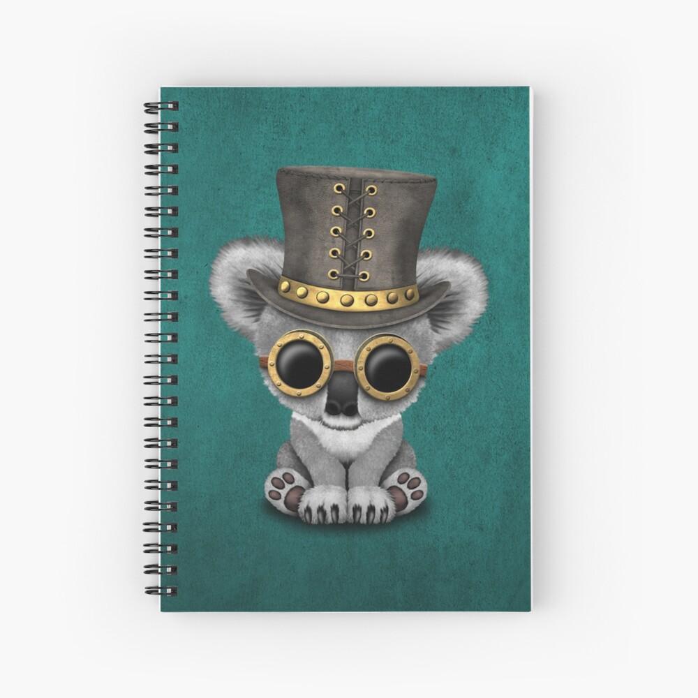 Steampunk Baby Koala Bear Cuaderno de espiral