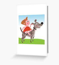 Dog Riding Academy Greeting Card