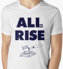 ALL RISE Aaron Judge NY Yankees Navy Print Men's V-Neck T-Shirt