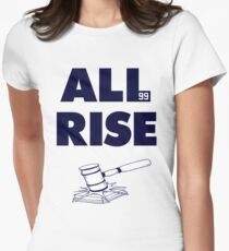 ALL RISE Aaron Judge NY Yankees Navy Print Womens Fitted T-Shirt