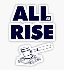 ALL RISE Aaron Judge NY Yankees Navy Print Sticker