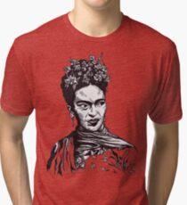 Tender Self Belief (portrait of Frida Kahlo) Tri-blend T-Shirt