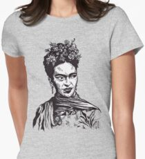 Tender Self Belief (portrait of Frida Kahlo) Women's Fitted T-Shirt