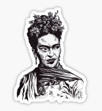 Tender Self Belief (portrait of Frida Kahlo) Sticker