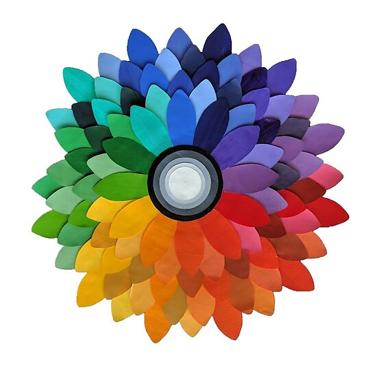 Color Wheel Flower Posters By Aleraen Redbubble