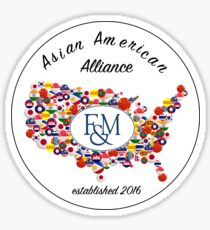 Asian American Alliance F&M Sticker