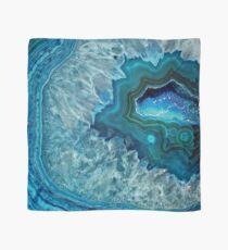 Hübsches aquamarines Aqua-Türkis-Geode-Kristall-Muster Tuch