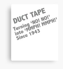 Funny Duct Tape Design Canvas Print