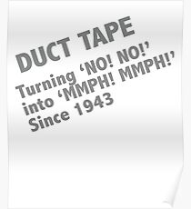 Funny Duct Tape Design Poster