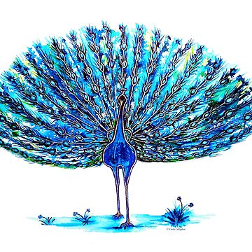 Peacock - Blue Elegance by LindArt1