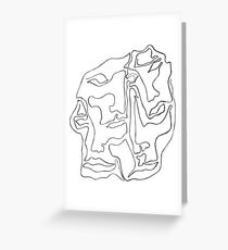 Amalgam - one line drawing Greeting Card