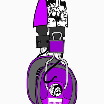 Edzemo Headphones in Purple by edzemo
