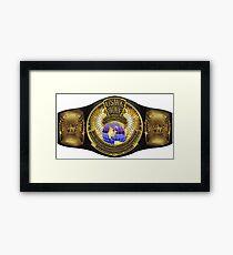 The Ultimate Championship Belt Framed Print
