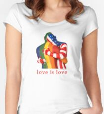 Love Is Love - Rainbow Pride Women's Fitted Scoop T-Shirt