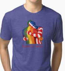 Love Is Love - Rainbow Pride Tri-blend T-Shirt