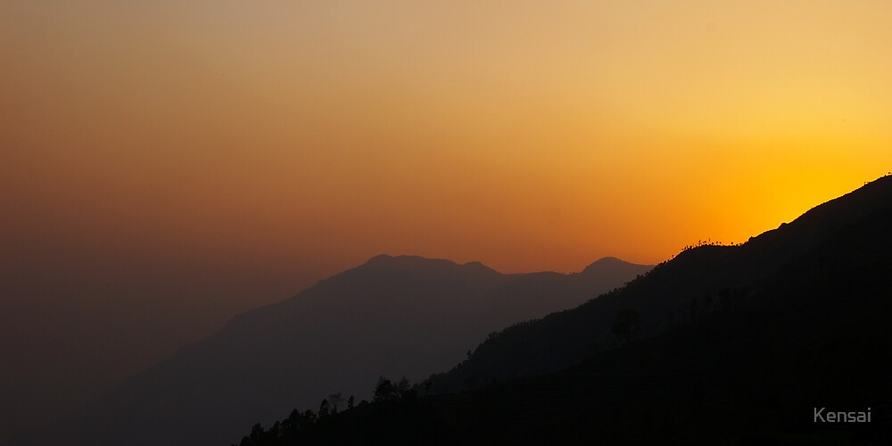 Nepalese sunset by Kensai