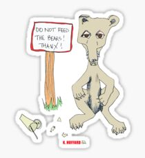 Do Not Feed the Bears! Sticker