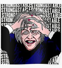 Theresa May - Strong & Stable Poster