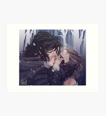 Snow Kiss Art Print