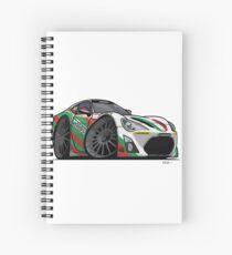 Toyota 86 Race Car Cartoon Spiral Notebook