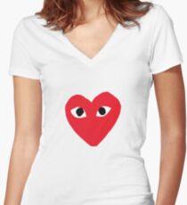 Comme Des Garçon  Women's Fitted V-Neck T-Shirt