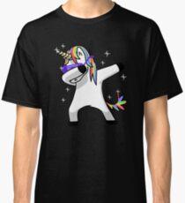 Dabbing Unicorn Shirt Dab Hip Hop Funny Magic Classic T-Shirt