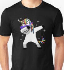 Dabbing Unicorn Shirt Dab Hip Hop Funny Magic Unisex T-Shirt
