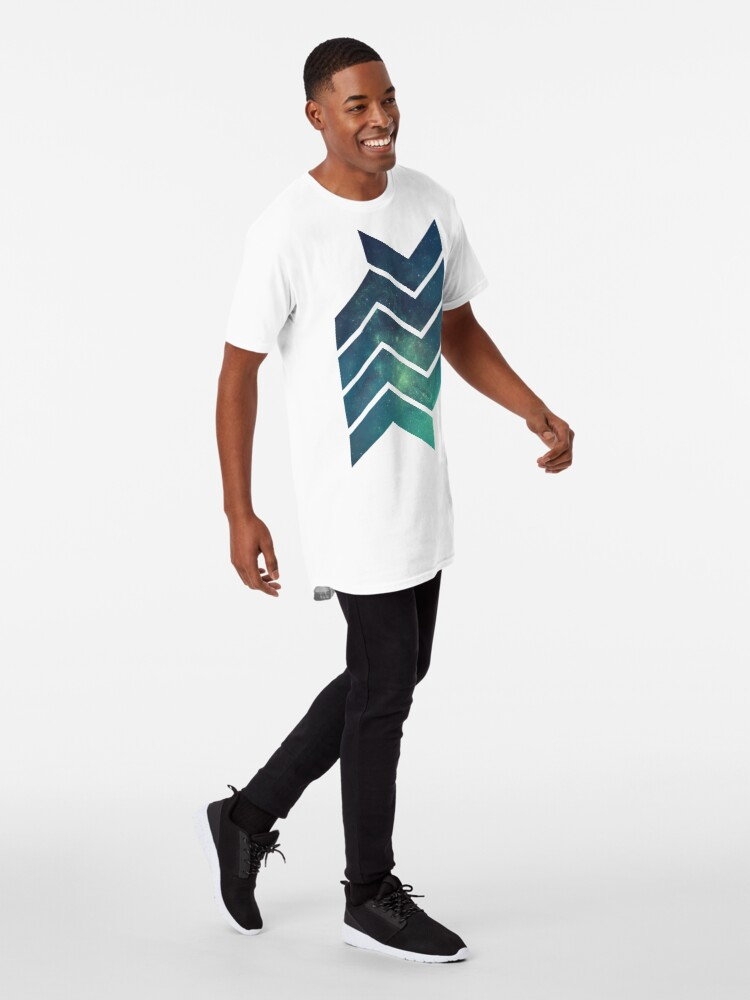 Alternative Ansicht von Geometric Galaxy Longshirt