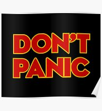 Dont Panic -  the hitchhikers Poster
