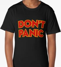 Dont Panic -  the hitchhikers Long T-Shirt