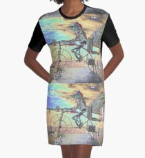 Frog Cycling, Sculptures By The Sea, Australia 2011 Graphic T-Shirt Dress