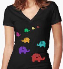 Elefantes Women's Fitted V-Neck T-Shirt