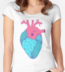 Cactus Heart Women's Fitted Scoop T-Shirt
