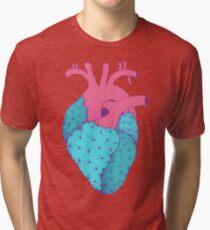 Cactus Heart Tri-blend T-Shirt
