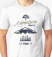 Vintage Adventure Typography Label Unisex T-Shirt