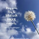 Dandelion in the Sky with Quote by Jacqueline Cooper