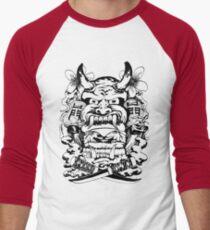 Japanese demon Men's Baseball ¾ T-Shirt