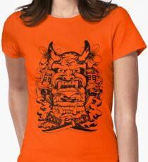 Japanese demon Women's Fitted T-Shirt